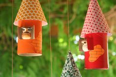 Croissant and lavender: TP Roll Birdhouses