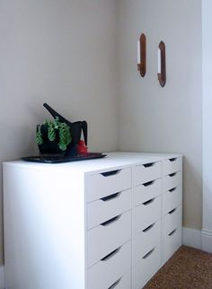 joined ikea alex drawers.