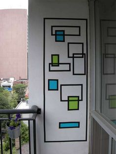 Create Wall Art With Electrical Tape