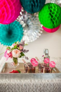 A Merry & Bright New Year's Party with West Elm  Photo by Bradley James Photography.