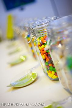 Jars Scoops and Boxes for candy buffet bars
