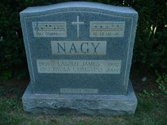 Tombstone Tuesday: Laszlo James and Paula Christina (Schneider) Nagy #genealogy #familyhistory