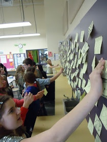 Mini Matisse: Take One, Give One Students take and give ideas on post-it notes... lots of ways to use this.