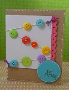 cute homemade button invite inspiration.