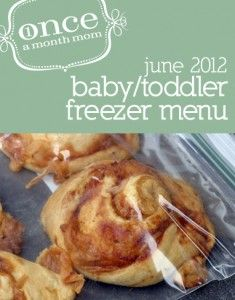 Freezer Toddler (18+ Month) Menu - recipe cards, grocery list, instructions and more.