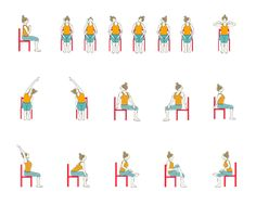 graphic about Printable Chair Yoga Poses named Chair Yoga For Seniors Poses