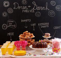A donut bar for dessert? So creative!