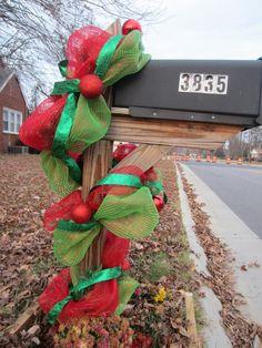 Deco mesh Christmas garland