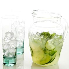 Time to pucker up! This minty mocktail features a double dose of lip-smacking lemon: a squeeze of lemon juice and icy-cold lemonade: http://www.bhg.com/holidays/st-patricks-day/recipes/green-drinks-for-st--patrick-s-day/?socsrc=bhgpin031214mintedcucumbernojitos&page=5