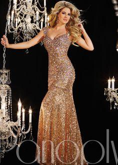 Panoply 14642 -Golden Globe Cap Sleeve Prom Dresses Online
