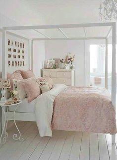 DIY Pink + White Bed
