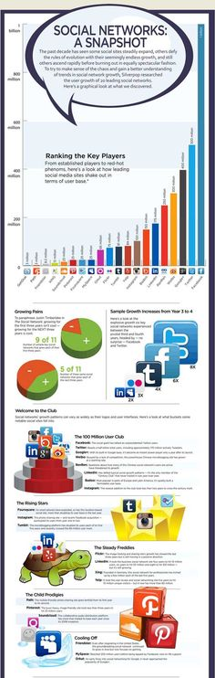 The growth of the Top 20 Social Networks