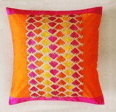 orange & pink cushion ideas