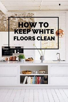 If you've got white floors (or are thinking of getting some white floors!), read this post. It has all the inside info on how to keep them clean.
