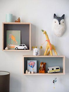 Kids shelf styling -Ferm living
