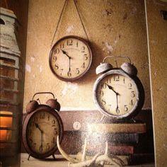 Rusty old clocks