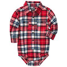 Baby Boy Flannel Bodysuits | OshKosh B'gosh
