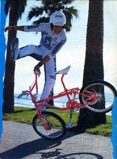 1987 GT pro freestyle tour bmx, factory rider Martin Aparijo.