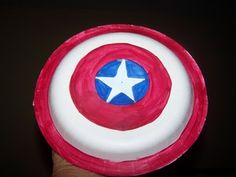 DIY Captain America Shield with paper plates  crayola markers.