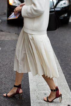 Long pleats