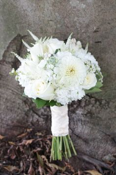Woodsy White {bridal bouquet} by Event Designs by Katherine