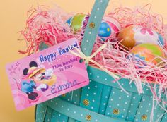 Mickey and Friends Easter Basket Tags Template  ~  familygo.com