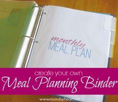 meal planning binder tutorial