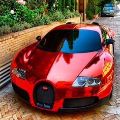 Ruby Red Bugatti Veyron! Very Nice!