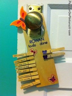 Great idea for morning routines so we can get out of the house on time.