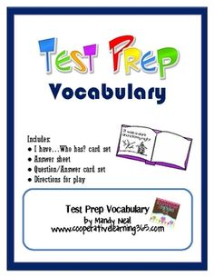 Don't let vocabulary get in the way of your students not understanding what to do on standardized test.  With this vocabulary set, students will be...