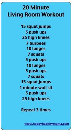 20 minute living room workout!