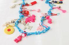 Li'l Buck's Creations: 80's Charm Necklace  80's toys