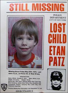 Etan Patz, Missing New York, http://www.missingpersonsofamerica.com