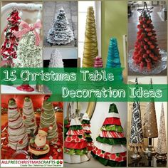 These 15 Christmas table decorations will make you want to to start crafting right away. Everything from unique Christmas trees to yarn Christmas trees so you can decorate your table with holiday cheer.