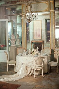 #vintage table cloth idea and #decor