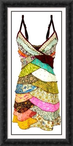 Love this patchwork dress