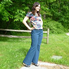 from Sewaholic patterns - thurlow trousers in denim