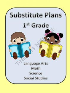Substitute Lesson Plans for 1st Grade from Sallys Shoppe on TeachersNotebook.com -  (169 pages)  - This packet includes lesson plans complete with worksheets and resources.  16 sequential lesson plans cover R/LA, math, science and social studies and could easily last one week.  These lessons were  written for a 1st Grade classroom using the U.S. Common