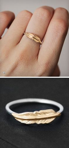 Adorable Feather Ring