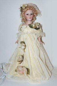 Victorian porcelain doll lamp