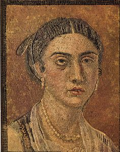 This is a mosaic from ancient Pompeii. It was hidden, buried by volcanic ash