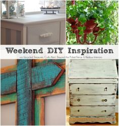 Weekend DIY Inspiration. Here you get four fabulous DIY projects from my Upcycling friends, and plenty of inspiration for the weekend! #upcycle #weekendprojects
