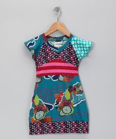 Take a look at this Indigo Abstract Floral Dress - Toddler & Girls by Desigual on #zulily today!