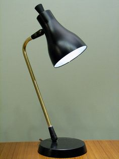 Vintage Lightolier Desk Lamp. Mid-Century Modern Small Table Lamp - Mad Men Office Decor
