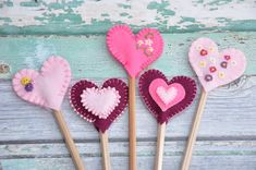 Really Simple Sewing Pattern: Heart Pencil Toppers