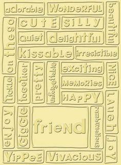 Friend Cuttlebug embossing folder