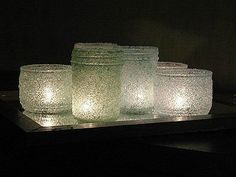 Epsom Salt Luminaries - The Best DIY Winter Home Decorations Ever: 18 Great Ideas