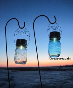 Mom Mason Jar Light Solar Garden Light for Mothers Day Gift for by treasureagain http://etsy.me/1eUgK5i This is NOT DIY. Original Design sold by treasureagain