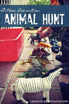 "Children need to take their play outside daily. Here is an Outdoor Animal Hunt to help them ""Take It Outside"""