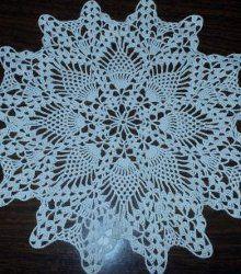 Crochet Doily in Pineapple Pattern